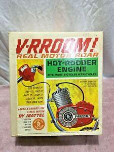 1963 Mattel V-RROOM! Hot-Rodder Bicycle Engine BOX ONLY! Nice w/Bonus