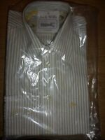 Jack Wills Shirt Mens XSmall long sleeve NEW sealed pack striped yellow/white
