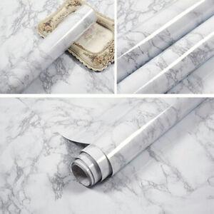 5m Grey Marble Wallpaper Kitchen Worktop Cupboard Cover Self Adhesive Vinyl Wrap