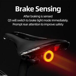 vélo intelligent Auto frein détection lumière IPx6LED étanche charge feu arrière