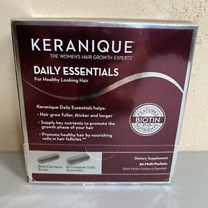 Keranique Daily Essentials Hair Growth Dietary Supplements 30 Multi Packs 03/20
