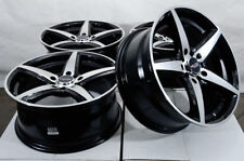 17x7.5 5x114.3 5x100 Black Wheels Fits Honda Civic Accord Crz Element 5 Lug Rims