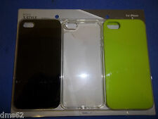 NEW 3 PACK CELL PHONE CASES BLACK GREEN CLEAR FITS APPLE  I5 87503 FREE SHIPPING