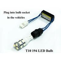2x Error Free Canbus Load Resistor LED Decoder Warning Canceler T10 W5W 168 T15