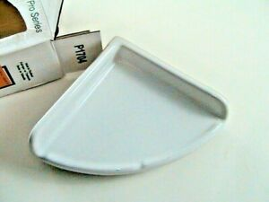 "NEW Lenape Large White Corner Bathroom Shelf Porcelain Soap Dish Holder 7"" x 7"""