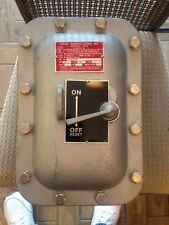 CURLEE/APPLETON EAB-N13430 30A 480V 3 POLE NO FUSE EXPLOSION PROOF DISCONNECT