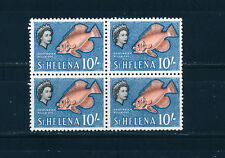 ST HELENA 1961 DEFINITIVES SG188 10s. BLOCK OF 4 MNH