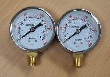 """Lot of (2) Air Pressure Gauge 2-1/4"""" Dial 0-200 PSI 1/4"""" NPT"""