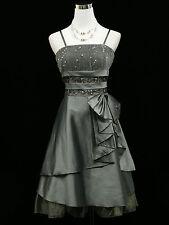 Cherlone Plus Size Grey Prom Formal Ball Evening Wedding Bridesmaid Dress 20-22
