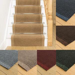 runrug Long Stair Carpet Runner Heavy Duty Washable Modern Bordered Aztec