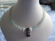 Rose Quartz Collar Natural Stone Fine Necklaces & Pendants