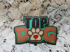 Top Dog title paper piecing Premade Scrapbook Pages