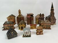 VINTAGE PAPER HOUSES LOT OF 10+  + some parts