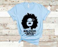 Natural Diva T-Shirt Black Hair African Culture Afrocentric Women
