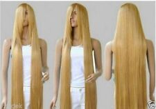 Long Rapunzel Tangled Light Golden Blonde Straight Cosplay Hair wigs 100cm