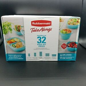 """Rubbermaid Food Storage Containers 32 Piece Set """" Take Along """" Food Prep *New*"""