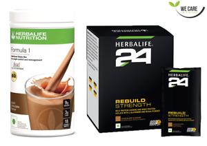 HERBALIFE - F1 Shake Mix Chocolate 500G + H24 Rebuild Strength Whey Protein