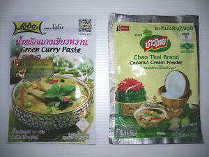 Green Curry Paste Coconut Milk Powder Thai Prepared Foods Camping Cooking MREs