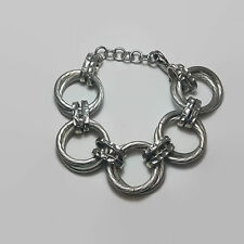 Silver Tone Large Heavy Link Chain Bracelet