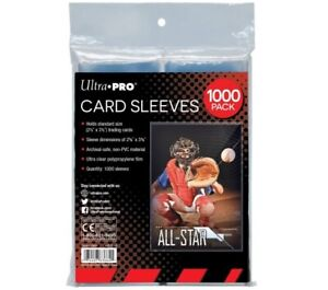 1000 Ultra PRO Soft Penny Sleeves Standard Card Protectors Clear 8x 125ct