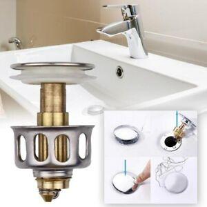 Ablauf Garnitur Abfluss Stopfen Waschbecken POP UP Stöpsel Filter Sieb Abdeckung