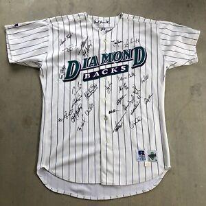 1999 Diamondbacks Division champs Team Signed Auto Jersey Johnson / Gonzalez 4B