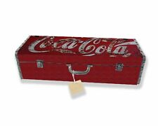 Vintage Repro Coca Cola Metal Storage Tool Box Storage Tin Coke Container Chest