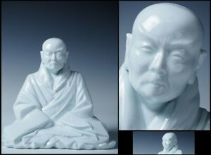 Japanese, Japan, High priest.Jodo Shinshu,Shinran,statue Buddha White porce 19cm