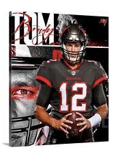 Tom Brady Tampa Bay Buccaneers Canvas 16x20 Goat Legend Florida NFL MVP Trophy