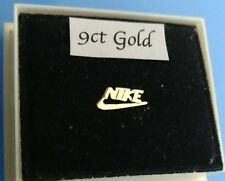 9ct gold baby/nose retro Nike symbol stud earring