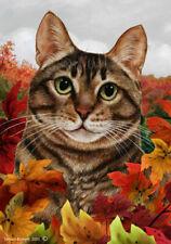 Fall Garden Flag - Brown Tabby Cat 139541