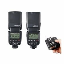 2* Godox VING V850II 2.4G GN60 Manual Flash Speedlite + X1T-C Trigger For Canon