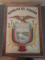 Vintage Republica Del Ecuador Framed Print Awesome Graphics