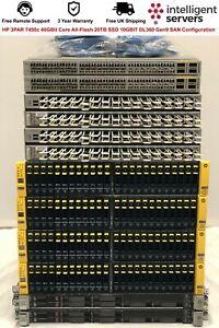 HP 3PAR 7450c 40GBit Core All-Flash 20TB SSD 10GBIT DL360 Gen9 SAN Configuration