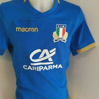 superbe  maillot de rugby ITALIE   marque macron  taille xL
