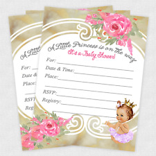 Baby shower princesses greeting invitations for sale ebay baby shower invitations tutu princess ballerina invite girl gold princess qty 30 filmwisefo