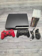 Sony PlayStation 3 PS3 Slim CECH-2501B 320GB Console - 5 Games