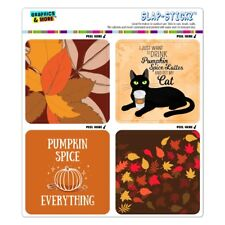 Pumpkin Spice Autumn Fall Leaves Craft Scrapbook Planner Calendar Sticker Set
