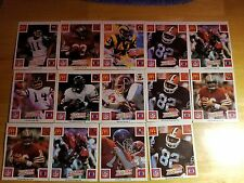 Lot of 14 1986 McDonalds Play & Win All-Star Team Football Cards With No Tabs
