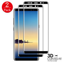 2PACK For Samsung Galaxy Note 8 S9 Tempered Glass Full Cover 3D Screen Protector