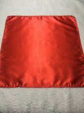 "MENS POCKET SQUARE 10"" X 10"" SOLID RED"