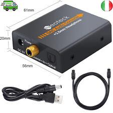 Convertitore DAC da digitale ad audio analogico Toslink ad Analogico L / R Audio