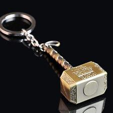 Marvel Avengers Thor Thor's Hammer Metal Keyring Keychain Gold Color