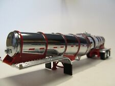 DCP FIRST GEAR 1/64 SCALE POLAR DROP CENTER TANKER, CHROME, RED BANDS & FRAME
