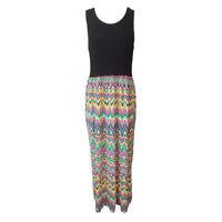 Plus Ladies Women Racer Back Long Maxi Dress Floral Printed Sleeveless Size 8-26