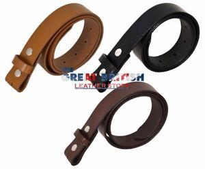 Genuine Cow Hide Leather Belt Strap Press Snap Stud Replacement Belt Strap