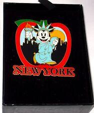 JUMBO Disney Pin✿Minnie Mouse Statue Liberty New York NYC Big Apple RARE WOD HTF