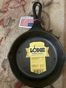 Lodge L3SK3 6.5in Cast Iron Skillet Pan Made in USA Camping cooking NEW NWT