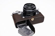 Genuine Real Leather Half Camera Case Bag Cover for Olympus PEN-F PEN F Open DB