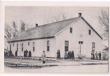 People Congregating Outside MANHEIM Mennonite Church PENNSYLVANIA 1940s Postcard